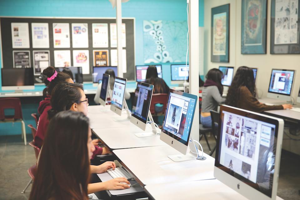 CyberARTS computer lab at Don Mills Collegiate Institute, CreativeFutures